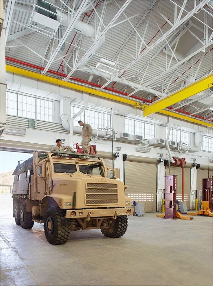 P-101 Wheeled Vehicle Maintenance Shop and Washrack